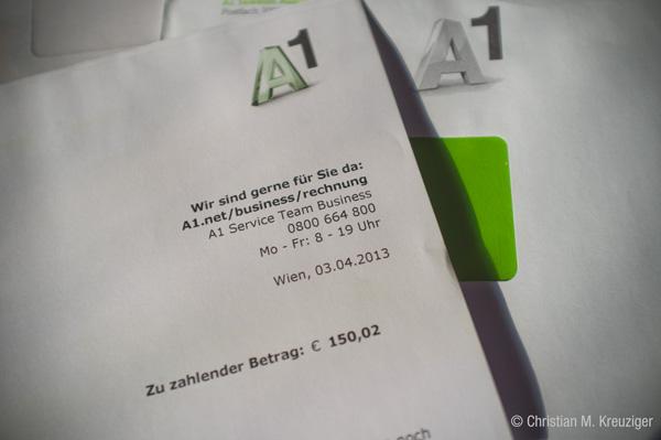 Hartnäckig schickt A1 Mahnungen für unberechtigte Forderungen. © Christian M. Kreuziger