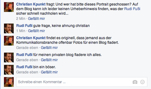 Rudi Fußi gesteht öffentlich, Fotos zu fladern...